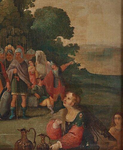 Frans francken ii, follower of, oil on canvas.
