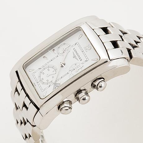 Longines, dolce vita, wristwatch, chronograh, 28 x  33 (41) mm.