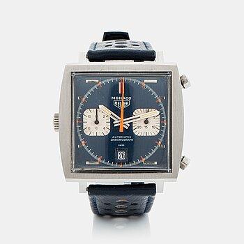 """81. Heuer, Monaco, chronograph, """"Steve McQueen""""."""