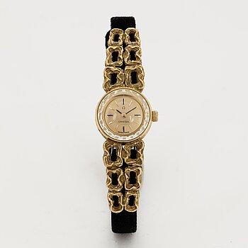 Omega, De Ville, Jeux d´Or, wristwatch, 14,5 (47) mm, Design Gilbert Albert.