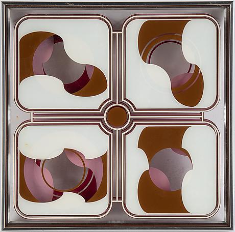 Beck & jung, multipel, plexiglas, signerad 1976.