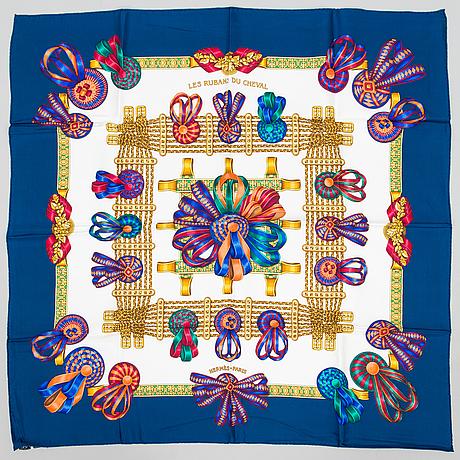 Hermès, 'les rubans du cheval' scarf.