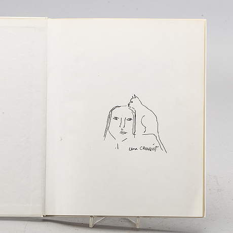 Lena cronqvist, book with drawing signed.