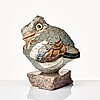 Tyra lundgren, a stoneware sculpture of a bird, sweden 1960's.