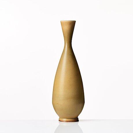 Berndt friberg, a stoneware vase, gustavsberg studio, sweden 1965.