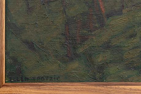 Ellen trotzig, oil on canvas, signed.
