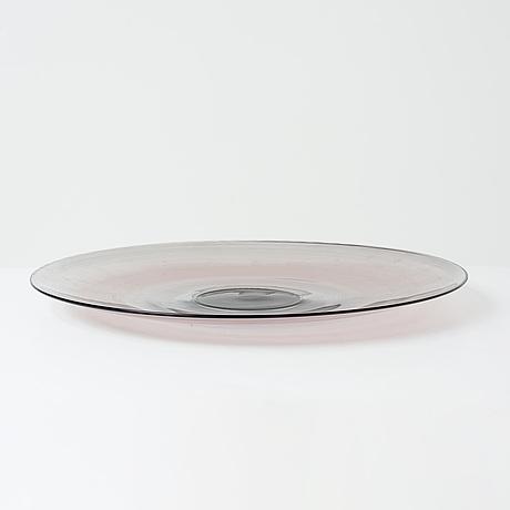 """Tapio wirkkala, a """"filigrana di tapio"""" glass dish, venini, murano, italy 1970's."""