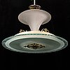 An art deco ceiling light, probably 1920s-30s.