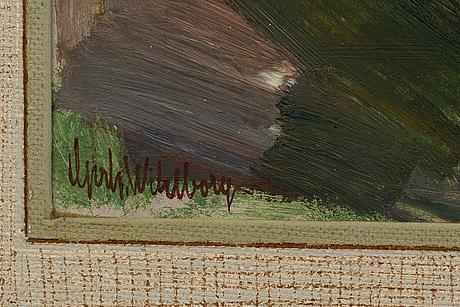 Gerhard wihlborg, oil on panel, signed.