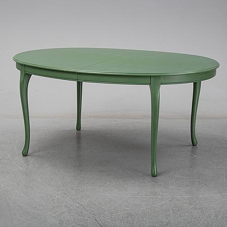 A seven piece 'gamla sverige' dining suite, Åmells möbler.