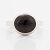 Efva attling, ring, armband och hänge med kedja, 'love bead' silver med rökkvarts.