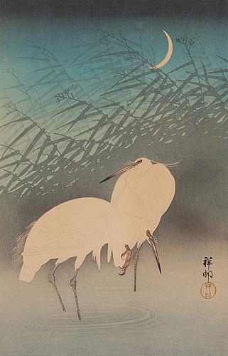 Koson ohara (1877-1945), a coloured woodblock print, japan, 20th century.