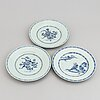 Six blue and white export plates, qing dynasty, qianlong (1736-95).