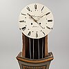 A 19th century painted long case clock.