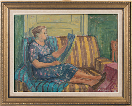 Kurt matilainen, oil on canvas, signed and dated -42.