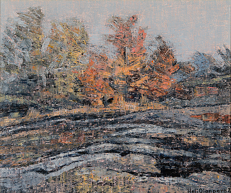 Heli ojanperä, oil on canvas, signed and dated -81.