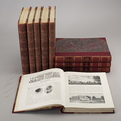 Nine volumes about swedish manor houses, 1908-1923, in swedish.