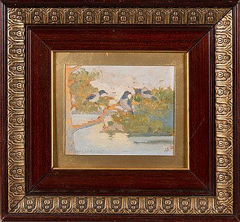Venny Soldan-Brofeldt, oil on board, signed.