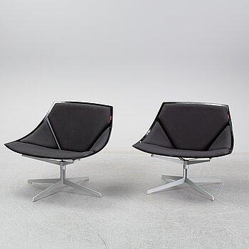 FRITZ HANSEN, a pair of JL10 'Space' Chair by Jjurgen Laub & Markus Jehs for Fritz.