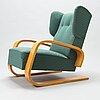 Alvar aalto, a mid-20th century armchair modell 38 'tank' for huonekalu- ja rakennustyötehdas a.b.