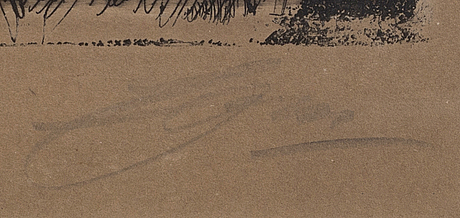 Anders zorn, etsning, 1910, signerad.