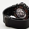 Hublot, big bang aero bang orange, wristwatch, chronograph, 45 mm .
