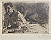 Anders zorn, a signed etching from 1897.