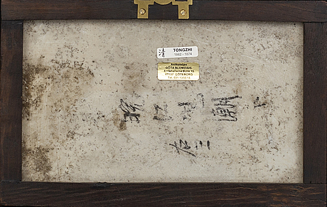 Porslinstavla,porslin, tongzhi (1862-1874)kina.