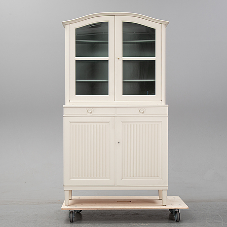 A 1960's 'herrgården vitrine cabinet by carl malmsten, bodafors.