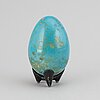 A hans hedberg sculpture of an egg, biot, france, signed.
