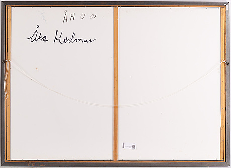 Åke hedman, mixed media/collage on paper-panel, signed verso.