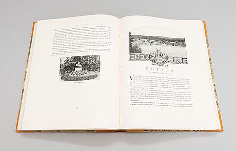 """Kirjasarja, 3-osainen, """"herrgårdar i finland i-iii"""", söderström & c:o förlagsaktiebolag, helsinki 1928-30."""
