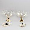 VÄgglampor, ett par, arnold wiigs fabrikker, norge, 1900-talets mitt.