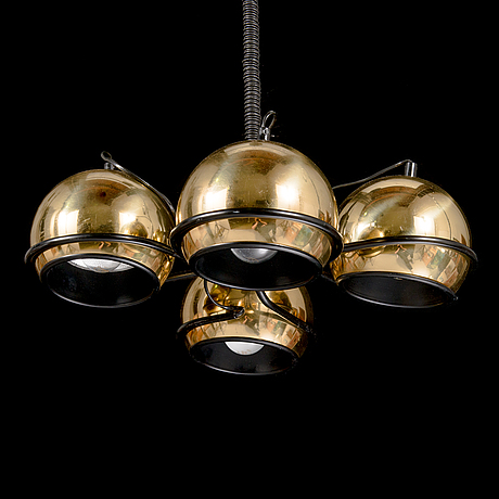 "A 1970s pendant ceiling light, ""polaris"", aris, arisuo oy, finland."