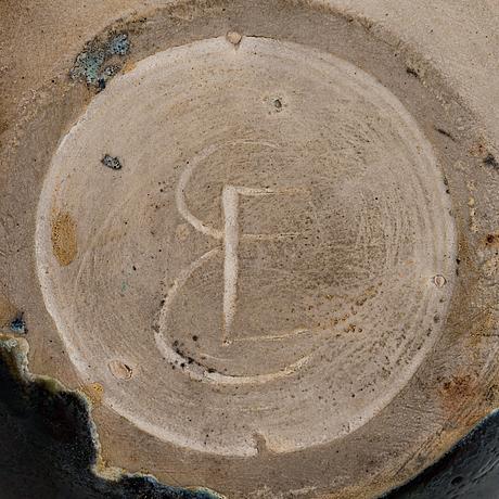 Elsa elenius, a stoneware pitcher signed ee.