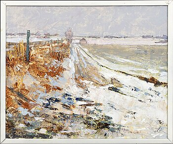 """Arnold """"Nolle"""" Svensson, oil on canvas, signed and dated -95."""
