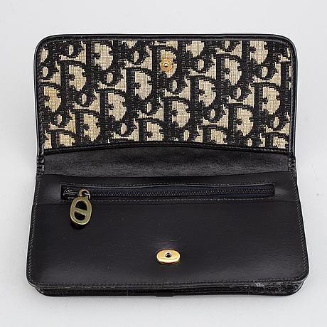 Christian dior, a shoulderbag, a wallet and a belt.
