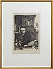 Anders zorn, a signed etching from 1890.