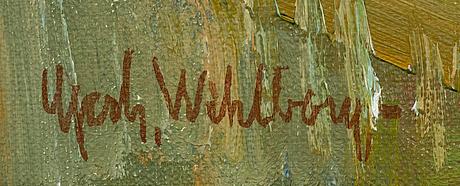 Gerhard wihlborg, oil on canvas, signed.