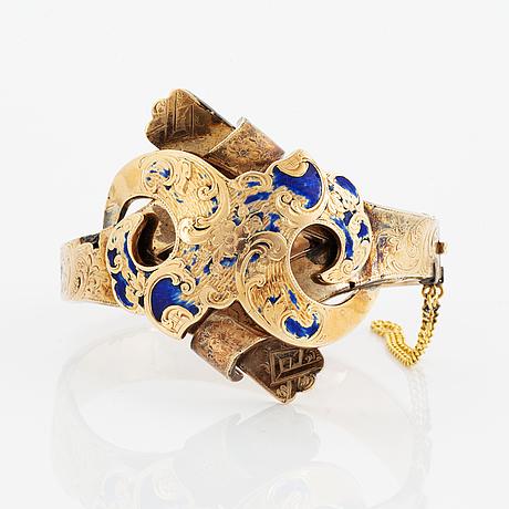 Armring, 14k guld, ryssland, omkring år 1900.