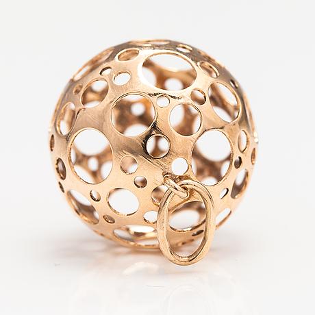 "Liisa vitali, a 14k gold pendant ""leppäkerttu"". westerback, helsinki 1973."