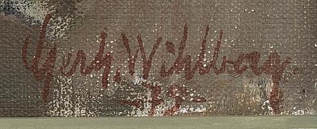 Gerhard wihlborg, olja på duk, signerda och daterad 79.