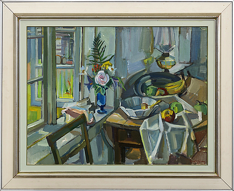 Gerhard wihlborg, oil on canvas, signed and dated -79.