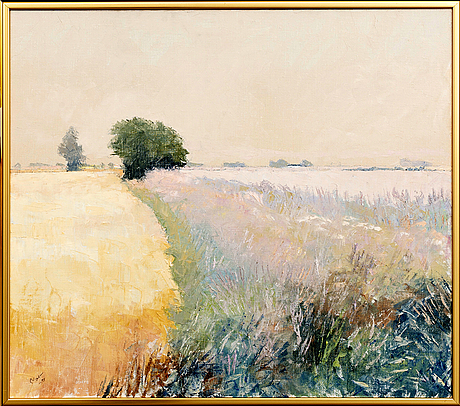 """Arnold """"nolle"""" svensson, oil on canvas, signed and dated -98."""