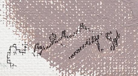 """Arnold """"nolle"""" svensson, olja på pannå, signerad och daterad -98."""