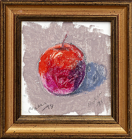 """Arnold """"nolle"""" svensson, oil on panel, signed and dated -98."""