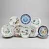 14 export porcelain dishes, qing dynasty, qianlong (1736-95).