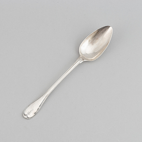 Pehr zethelius, a silver spoon,  stockholm 1804.