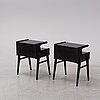 A pair of bedside tables, second half of the 20th century.