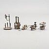 Figuriner, 5 st silver kina, 1900-tal.